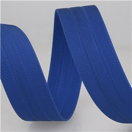 Bobine 10m sangle gros grain Bleu Roy 30mm