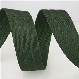 Bobine 10m sangle gros grain Vert Bouteille 30mm