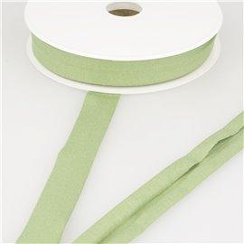 Bobine 20m biais jersey extensible Vert kaki clair 20mm