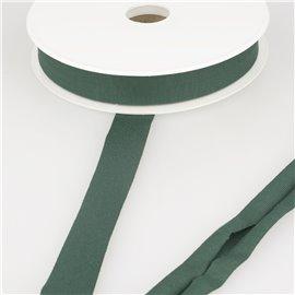 Bobine 20m biais jersey extensible Vert Bouteille 20mm