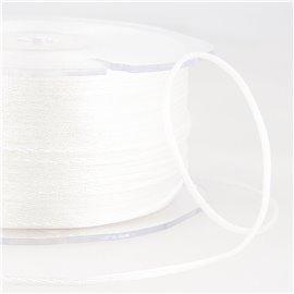 Cordon queue de rat 2mm blanc au mètre