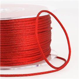Cordon queue de rat 2mm rouge au mètre