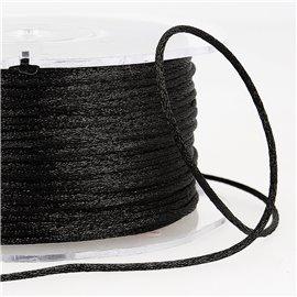 Cordon queue de rat 2mm noir au mètre