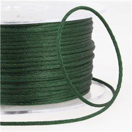 Cordon queue de rat 2mm vert bouteille au mètre