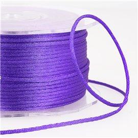 Cordon queue de rat 2mm violet au mètre