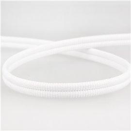 Double cordon 9mm blanc au mètre