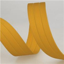 Sangle gros grain 30mm moutarde au mètre