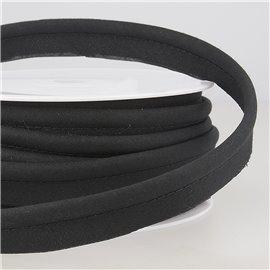 Passepoil mèche 5mm noir au mètre
