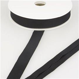 Biais jersey extensible 20mm noir au mètre