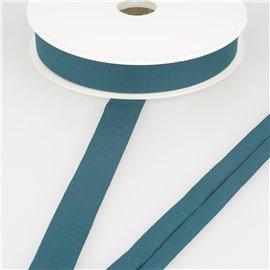 Biais jersey extensible 20mm bleu canard au mètre