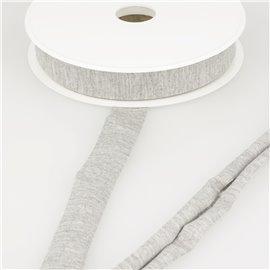 Biais jersey extensible 20mm gris souris au mètre