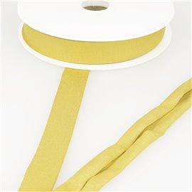 Biais jersey extensible 20mm moutarde au mètre