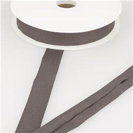 Biais jersey extensible 20mm marron foncé au mètre