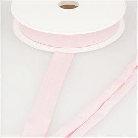 Biais jersey extensible 20mm rose clair au mètre