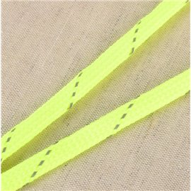 Bobine tresse réfléchissante 25m jaune fluo