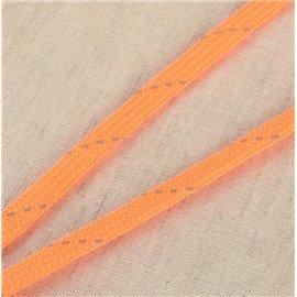 Bobine tresse réfléchissante 25m orange fluo