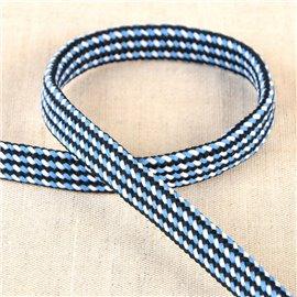 Bobine tresse chinée 25m bleu acier
