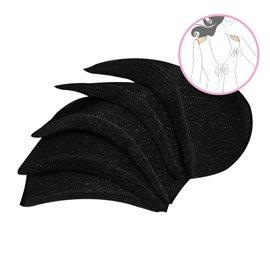 Lot de 2 épaulettes droites recouvertes 9x13,5x1cm noir