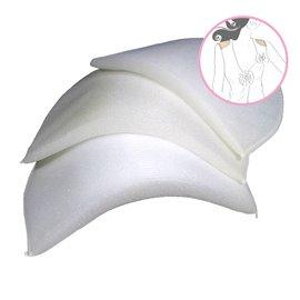 Lot de 2 épaulettes droites recouvertes 9,5x16,5x1,5cm blanc