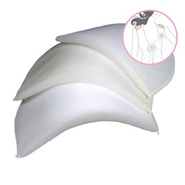 Lot de 2 épaulettes droites recouvertes 14x20x2,5cm blanc