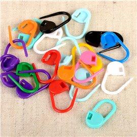 Anneaux marqueurs tricot plastique 20 pièces