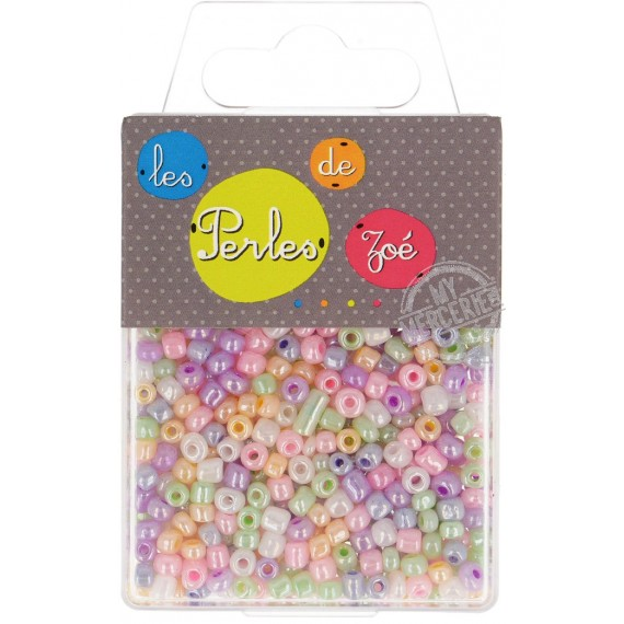 Perles de verre 6/0 transparentes en boîte de 40g