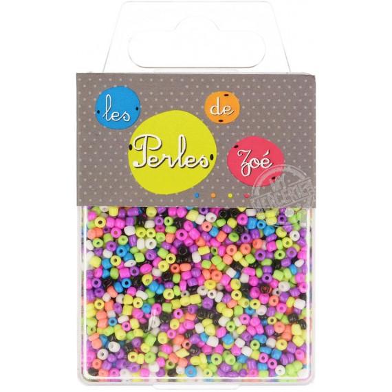 Perles de verre 12/0 multicolores boite de 40g