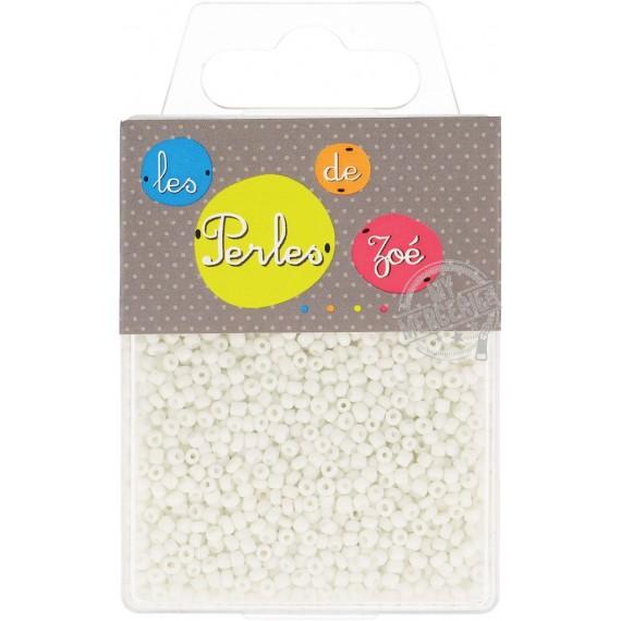 Perles de verre 12/0 blanches boite de 40g