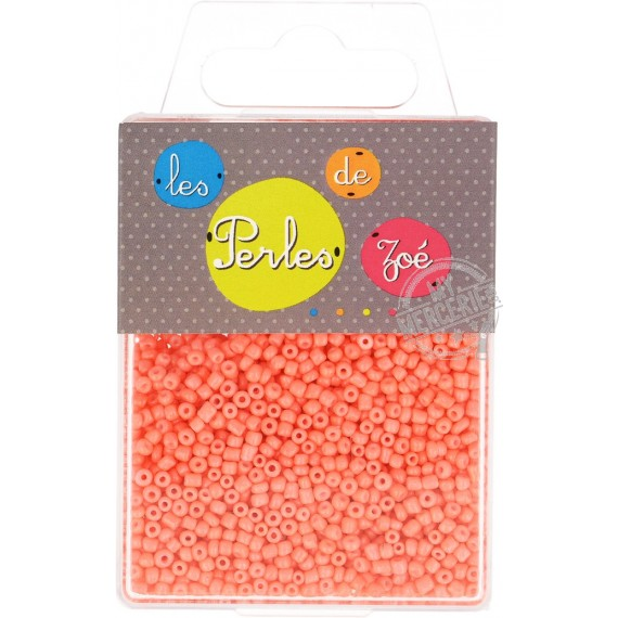 Perles de verre 12/0 orange fluo boite de 40g