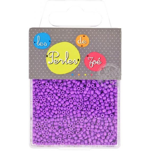 Perles de verre 12/0 violet fluo boite de 40g