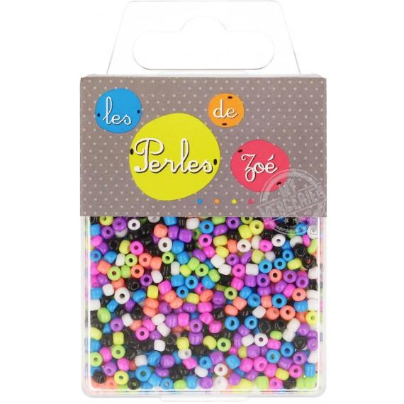 Perles de verre 8/0 multicolores boite de 40g