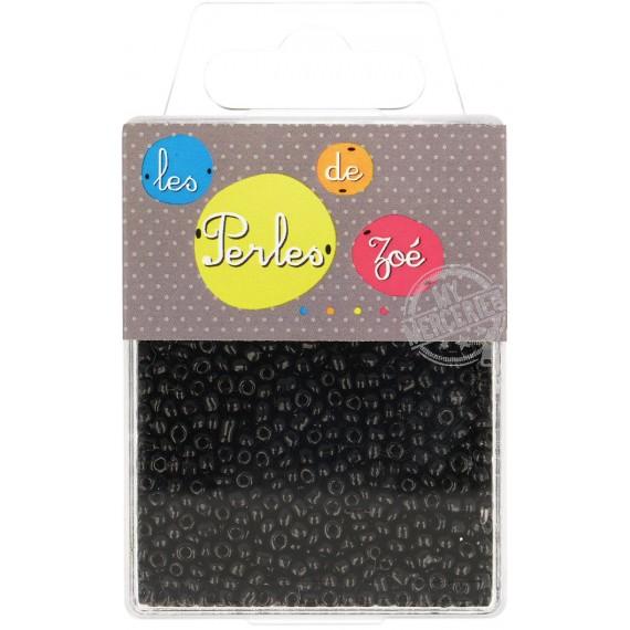 Perles de verre 8/0 noires boite de 40g