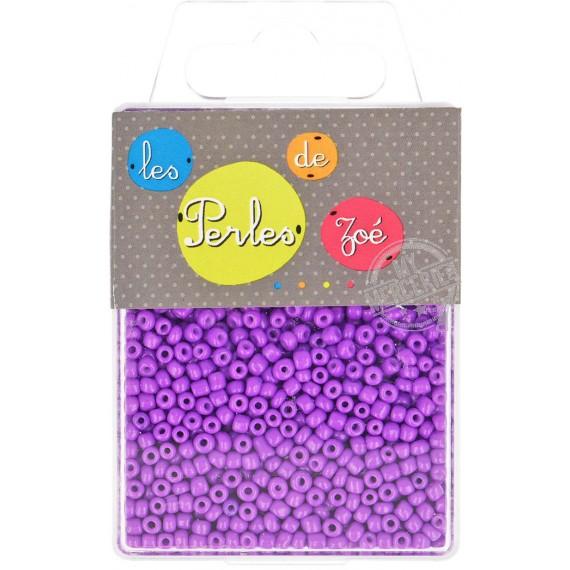 Perles de verre 8/0 violet fluo boite de 40g