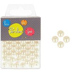 Perles rondes ivoire 6mm - boite de 16g