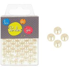 Perles rondes ivoire 8mm - boite de 16g