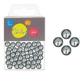 Perles rondes gris foncé 10mm - boite de 16g