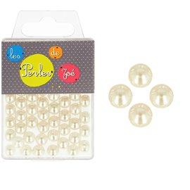 Perles rondes ivoire 10mm - boite de 16g
