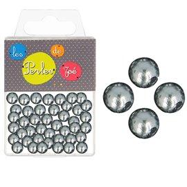 Perles rondes grise foncé 16mm - boite de 9 perles