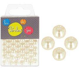 Perles rondes ivoire 16mm - boite de 9 perles