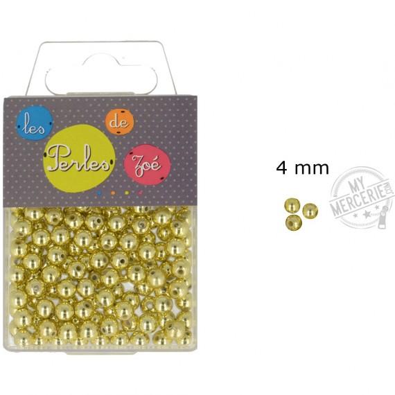 Perles rondes or 4mm en boite de 20g