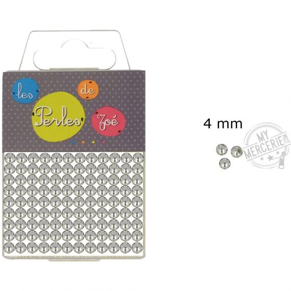 Perles rondes argent 4mm en boite de 20g