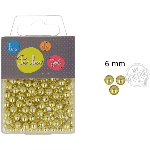 Perles rondes or 6mm en boite de 20g