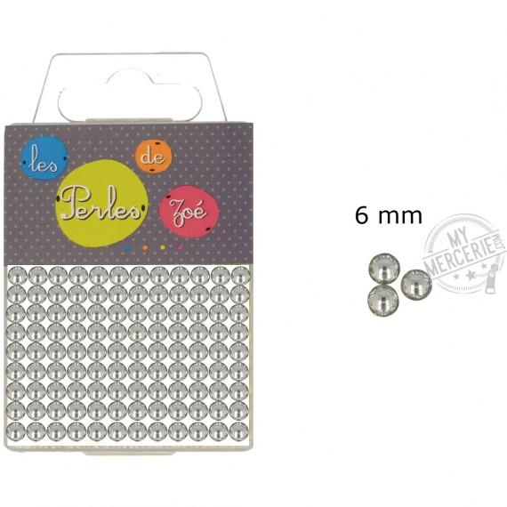 Perles rondes argent 6mm en boite de 20g