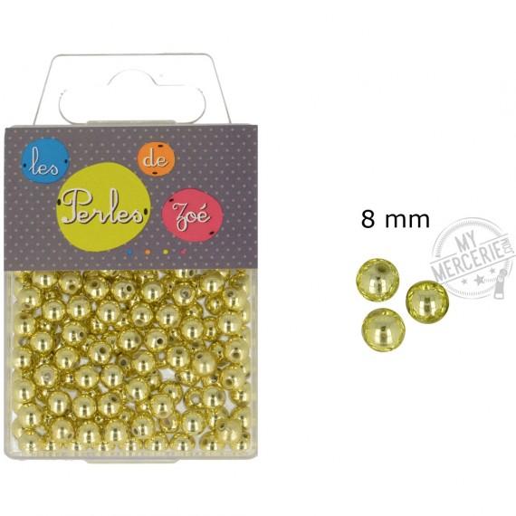 Perles rondes or 8mm en boite de 20g