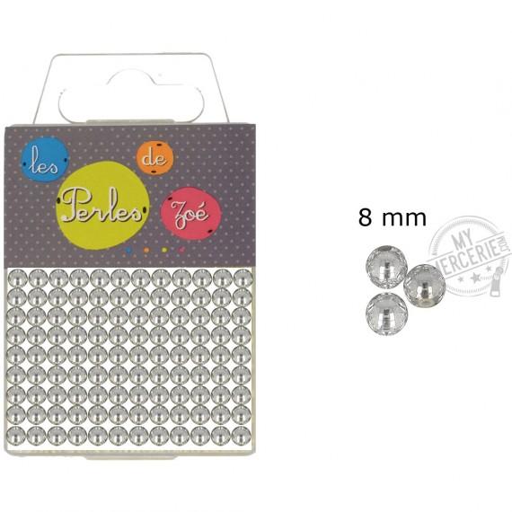 Perles rondes argent 8mm en boite de 20g