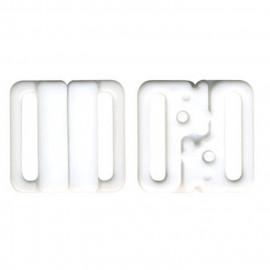 3 sets attache bikini maillot de bain blanc 15mm