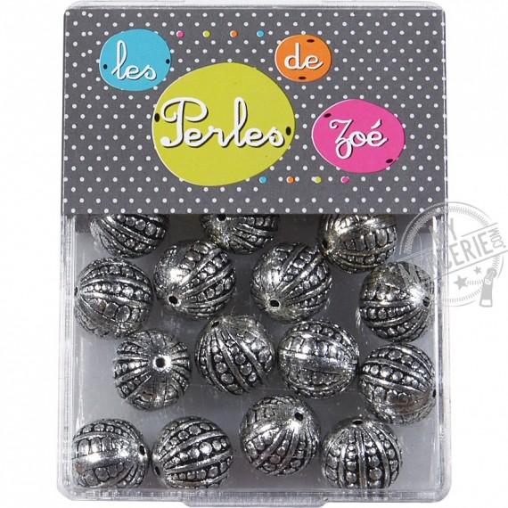 Perles rondes argent 10mm en boite de 20g
