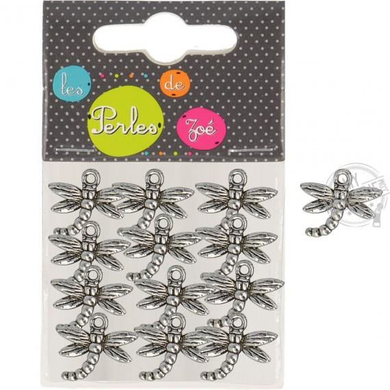 12 breloques plastiques libéllules