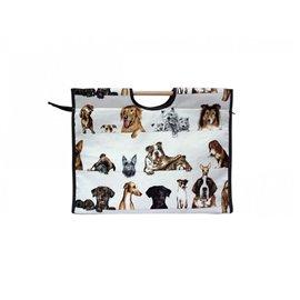 Sac à tricot en tissu matelassé 42cm chien