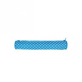 Sac à aiguilles à tricoter en tissu matelassé 45cm pois bleus